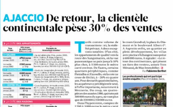 """In Aiacciu : """"la clientèle continentale est de retour"""""""