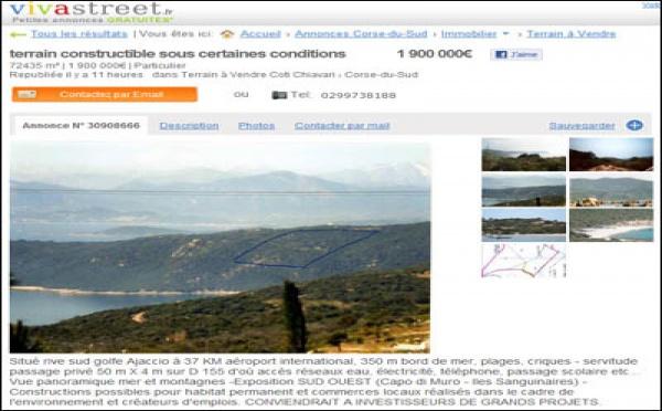 A Corsica hè sempre à vende